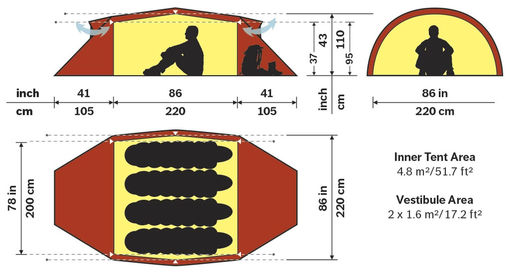 Hilleberg Kaitum 4 4 4 Tent Grön (2019) f5868b